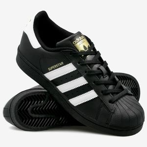 ⭐ADIDAS SUPERSTAR CLASSIC BLACK SNEAKERS NEW⭐